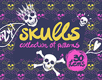 Crazy skulls patterns