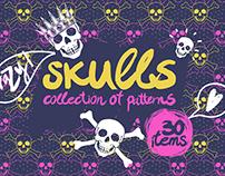 Crazy skulls patterns
