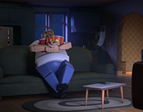 Lazy man_lighting and compositing