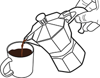 Step by Step Illustration: How To Use A Moka Coffee Pot