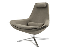 3d model: Metropolitan Armchair by B&B Italia