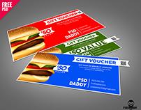 Food Discount Voucher Free PSD Download