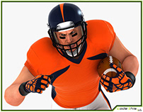 3D Model: American Football Player HQ 008