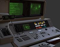 Retro Sci Fi Computer