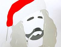 Bad Santa, Cut Paper, 2D Design