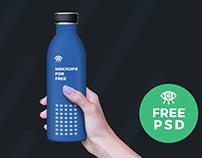 Plastic Bottle Mockup / Free PSD