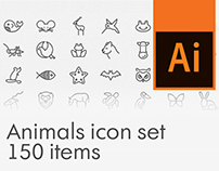 Free Animals icon set, 150 items