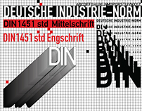 Typography poster for DIN 1451