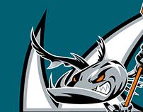 San Jose Barracuda Branding (AHL Hockey Team)