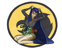 Raven & Beast Boy Pin-Up