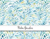 Palm Garden Surface Pattern Design