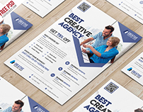 Freebie : Business Marketing Flyer Free PSD Template