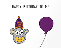 Birthday Invite. Graphic Design, Illustration.