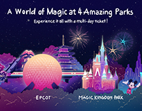Disney 4 Parks Illustration