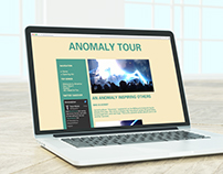 Anomaly Tour Webpage HTML/CSS