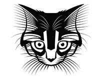 Cat vector graphics