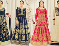 Party Wear Gown Dress: Long Sleeved Designer Gowns for