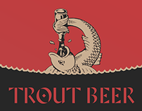 Trout Beer Labels