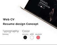 Personal web CV/Resume