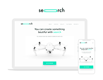Search - clean landing page design