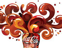 Coca Cola digital mural