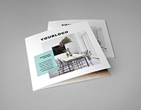 Square Minimal Interior Design Trifold
