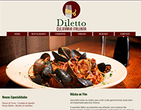 Layout para site do restaurante Diletto