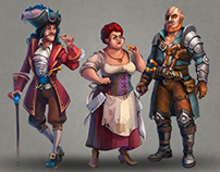 Characters for Pirates game