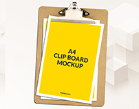 Free A4 Clipboard Mockup Psd Download