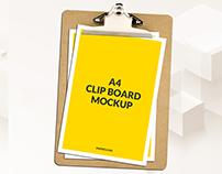 Free A4 Clipboard Mockup Psd Download