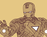 Ironman Line Illustration