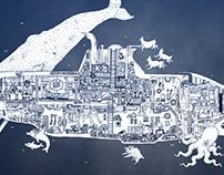 Wäue & Cousteau Poster