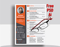 Free Resume Template (PSD+Ai)