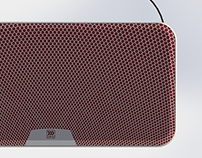 Bluetooth speaker grill design