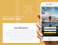 Flight Me - Mobile App UX/UI