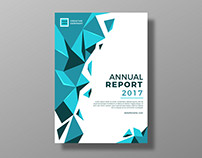 Free Annual Report Cover template