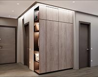 Hallway for a modern apartment