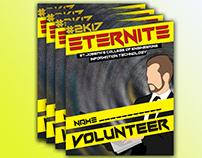 Card Design | Volunteer card | Radial blur background|