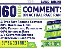 I will do manually 160 blog comments on actual page