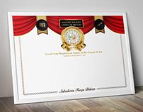 Certificados + Pin Comemorativo | GLMERGS