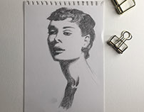 Black and white portrait sketches