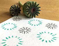 Poppy seed capsule printing