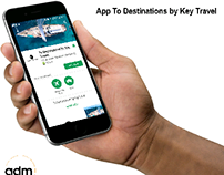 "📱 App : "" To destinations by Key Travel """