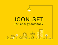 Icon set for energy company