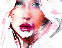 Watercolor light portrait