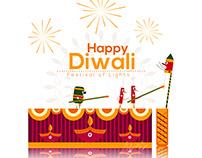 Diwali Wish Poster Design for wiggle studios