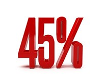 Red Discount 45 Percent