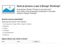 Wireframe de página de contato para Blog da Prisma