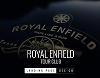 Royal Enfield Tour Club Landing Page
