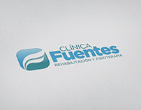 Clinica Fuentes - Logotipo y trabajos publicitarios